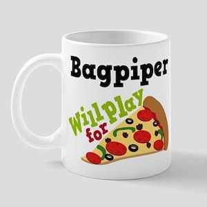 Bagpiper Play For Pizza Mug