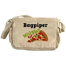 Bagpiper Play For Pizza Messenger Bag