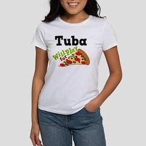 Tuba Play For Pizza Women's T-Shirt