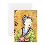 Japanese Woman Greeting Card