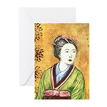 Japanese Woman Greeting Cards (Pk of 10)