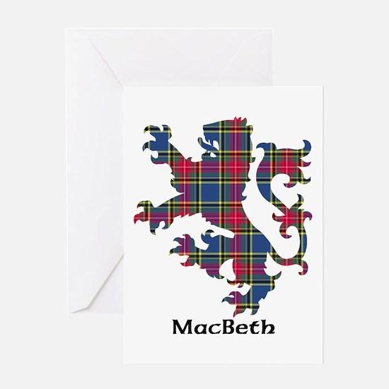 Lion - MacBeth Greeting Card