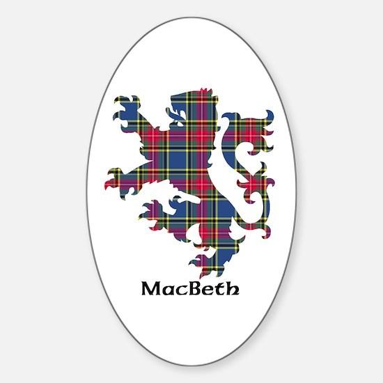 Lion - MacBeth Sticker (Oval)