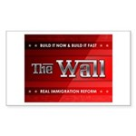 Build The Wall Sticker (Rectangle)
