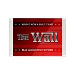 Build The Wall Rectangle Magnet (10 pack)