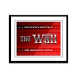 Build The Wall Framed Panel Print