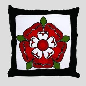 Tudor Rose Emblem Throw Pillow