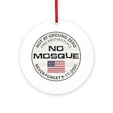 No Mosque At Ground Zero Ornament (Round)