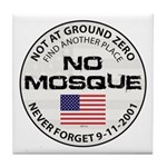 No Mosque At Ground Zero Tile Coaster
