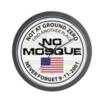 No Mosque At Ground Zero Wall Clock