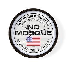 No Mosque At Ground Zero Wall Clock