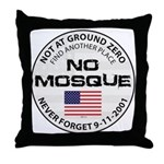No Mosque At Ground Zero Throw Pillow