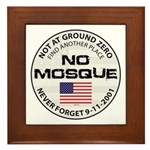 No Mosque At Ground Zero Framed Tile
