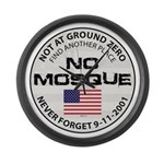 No Mosque At Ground Zero Large Wall Clock