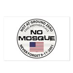 No Mosque At Ground Zero Postcards (Package of 8)
