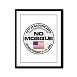 No Mosque At Ground Zero Framed Panel Print