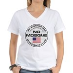 No Mosque At Ground Zero Women's V-Neck T-Shirt
