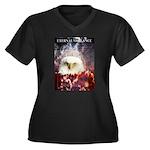 Eternal Vigilance Women's Plus Size V-Neck Dark T-