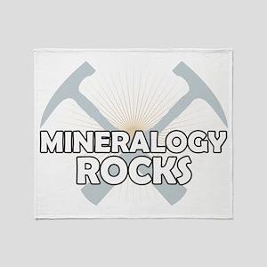 Mineralogy Rocks Throw Blanket
