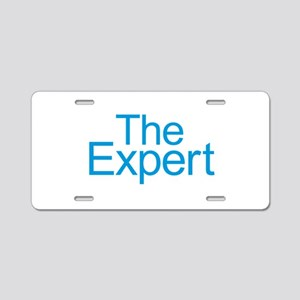 The Expert - Blue Aluminum License Plate
