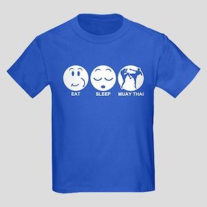 Eat Sleep Muay Thai Kids Dark T-Shirt