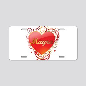 Mayra Valentines Aluminum License Plate