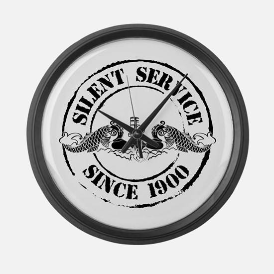 Silent Service Large Wall Clock