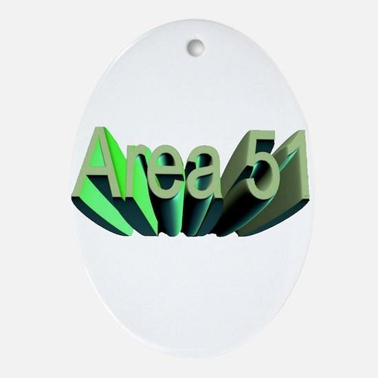 area 51 Ornament (Oval)