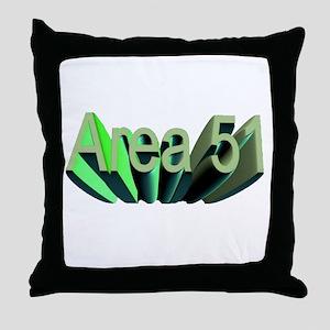 area 51 Throw Pillow