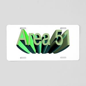 area 51 Aluminum License Plate