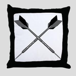 Crossed Darts Throw Pillow