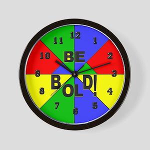 Be Bold Pop Art Wall Clock