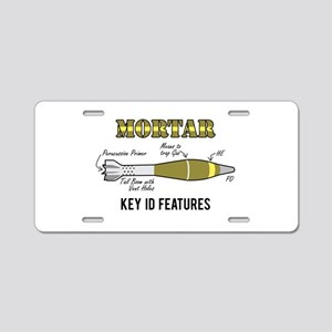 Mortar ID Aluminum License Plate