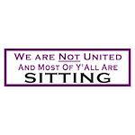 We Are Not United Bumper Sticker