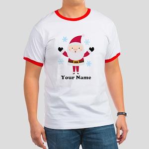 Personalized Santa Snowflake Ringer T
