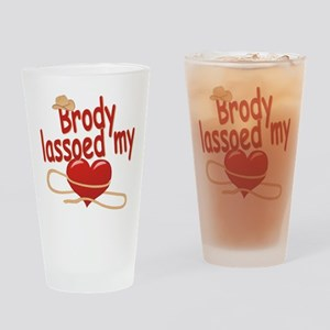 Brody Lassoed My Heart Drinking Glass