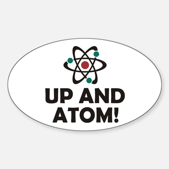 Up and Atom Sticker (Oval)