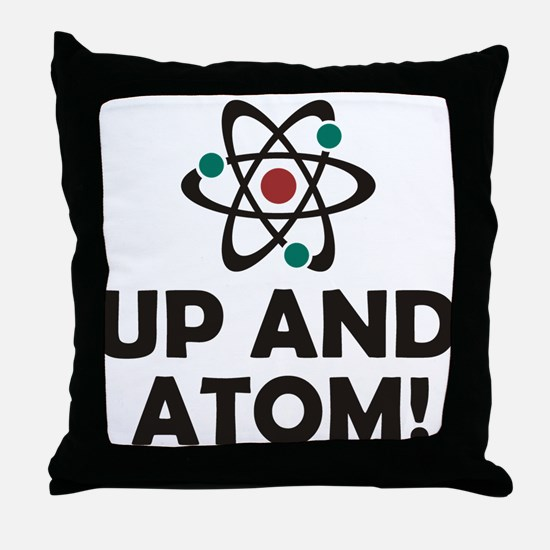 Up and Atom Throw Pillow