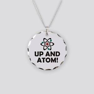 Up and Atom Necklace Circle Charm
