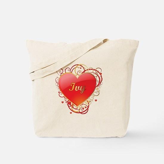 Ivy Valentines Tote Bag