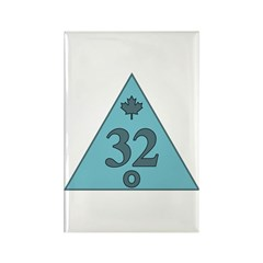 32nd Degree Canada Rectangle Magnet