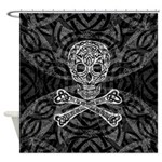 Celtic Skull And Crossbones Shower Curtain