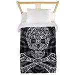 Celtic Skull And Crossbones Twin Duvet Cover