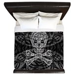 Celtic Skull And Crossbones King Duvet Cover
