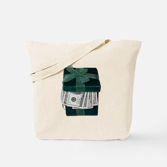Gift Box Full of Money Tote Bag