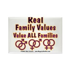 Family Values Rectangle Magnet