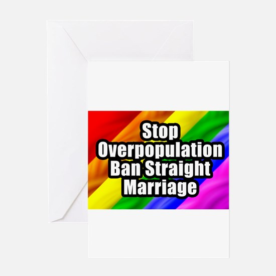 Ban Straight Marriage small.png Greeting Card