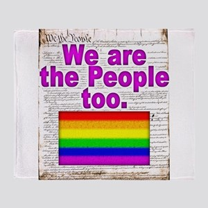 We are the People Too Throw Blanket