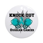 Knock Out Ovarian Cancer Ornament (Round)