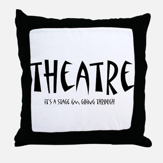 Funny Drama Throw Pillow